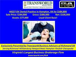 44227-DV Dental Practive in Hampton, VA