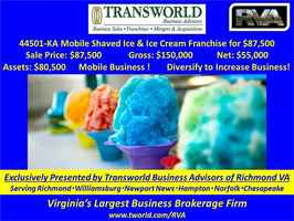 44501-KA Mobile Shaved Ice & Ice Cream Franchise