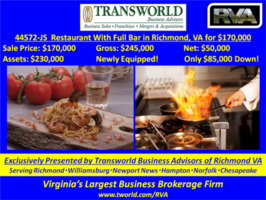44572-JS Restaurant With Full Bar in Richmond, Va