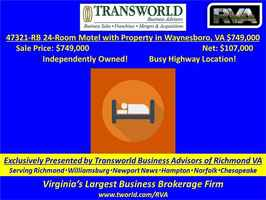 47321-RB 24-Room Motel with Property in Waynesboro