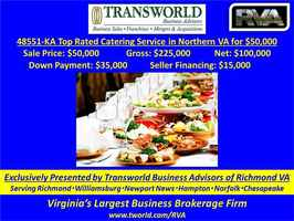 48851-KA Top Rated Catering Service in Northern VA