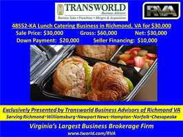 Lunch Catering Business in Richmond, VA