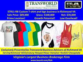 57911-RB Custom T-shirt and Sign Store Sale