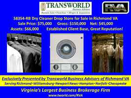 58354-RB- Dry Cleaner Drop Store for Sale