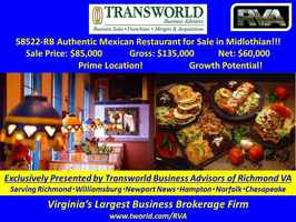 58522-RB Authentic Mexican Restaurant for Sale