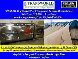 58562-RB Dry Cleaner Plant Equipment Package