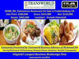 59398-RB Asian Restaurant for Sale