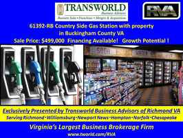 61392-RB Country Side Gas Station with property