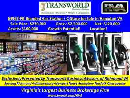 64963-RB Branded Gas Station + C-Store for Sale