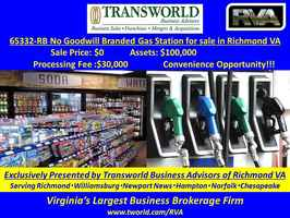 65332-RB No Goodwill Branded Gas Station for sale