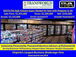 65573-CW High Volume Super Market for Sale w/RE