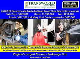 65762-RF Established Auto Collision Repair Shop