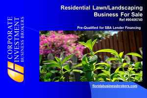 Lawn Biz Residential Business For Sale