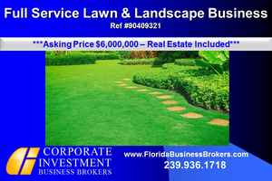 Lawn & Landscaping Business & Real Estate For Sale