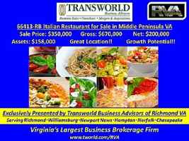 66413-RB Small Town Italian Restaurant for Sale