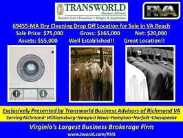 69455-MA Dry Cleaning Drop Off Location for Sale
