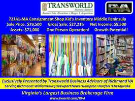 72141-MA Consignment Shop with High-End Kid's Inv.