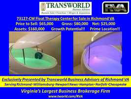 73127-CW Float Therapy Center for Sale in Richmond