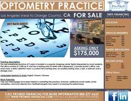 L.A./Orange County, CA Optometry Practice For Sale