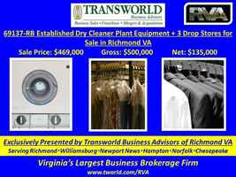 69137-RB Established Dry Cleaner Plant Equipment