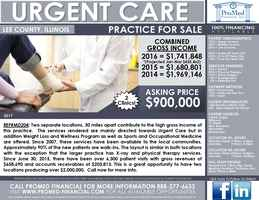 Illinois Urgent Care Practice For Sale-2 locations