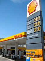 Shell Gas Station with Semi Convenience-Store