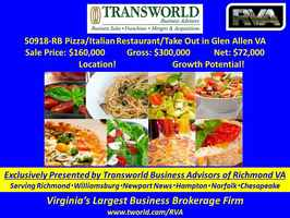 50918-RB Pizza/Italian Restaurant and Take Out