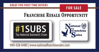 +$240k Cash Flow National Subs Franchise for Sale