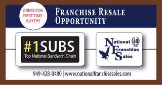 Sales up 12% YTD #1 Subs Franchise for Sale