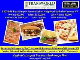 82070-RF Pizza Shop Located in Trendy Urban Area