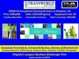 83902 CG Exceptional Cleaning Business in Hampton,