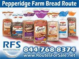 Pepperidge Farm Bread Route for Sale, Jacksonville
