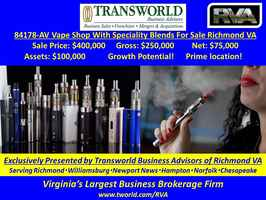 84178 AV Well located Vape Shop in Hanover VA