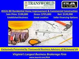 85531-BK Construction/Home Improvement Business