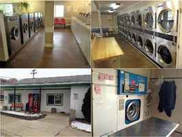Coin laundry with dry cleaning & bldg