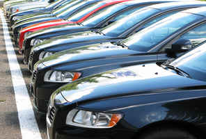 Used Car Lot on Busy Main Thoroughfare