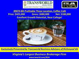 89073-BK Chain of 3 Profitable Coffee Cafes