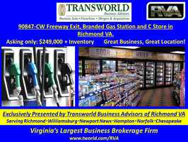90847-CW Freeway Exit Branded Gas Station C Store