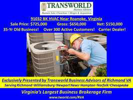 91032-BK 45 -Yr Old, Profitable HVAC Company