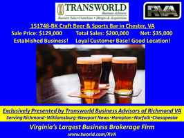 Popular local Craft Beer Restaurant and Sports Bar