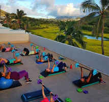 Hawaiian Fitness Studio with a View