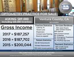 Ventura County Optometry Practice for Sale