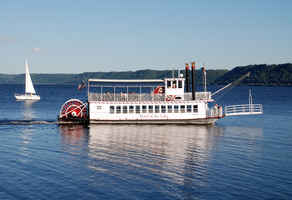 Successful Excursion Boat on beautiful Lake Pepin