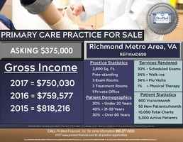 Virginia Primary Care Practice for Sale