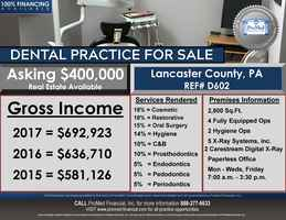 Dental practice in Lancaster County, PA for sale