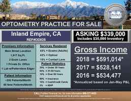 Inland Empire Optometry Practice for Sale