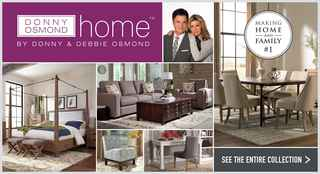 Donny Osmond Home-based Home Furnishings Company!