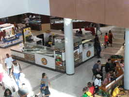 sandwich, panini, salad, no cooking. Inside mall.