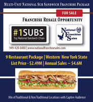Sub Franchise Package - $643K Cash Flow