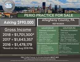 Allegheny County Dental Practice for Sale